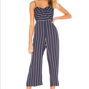 NEW Bardot Layla Stripe Cropped Jumpsuit